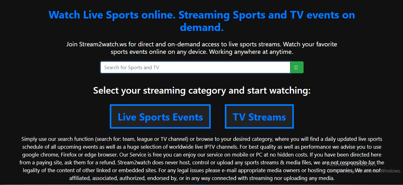best live streaming site