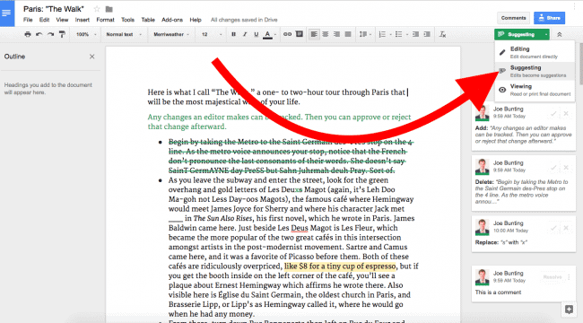 Google Docs - book writing software