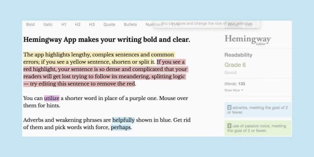 Hemingway - best Word writer Appss 2020