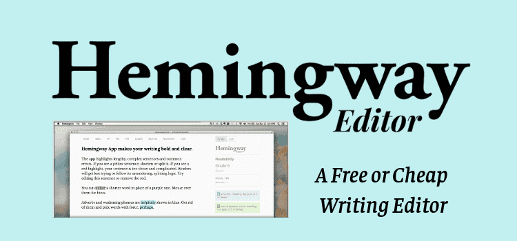 Hemmingway - software for writing a book