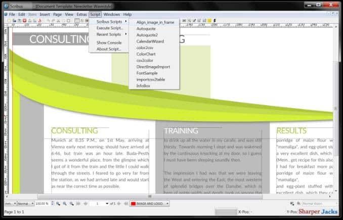 Scribus - online writing software