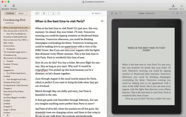Vellum - free book writing software