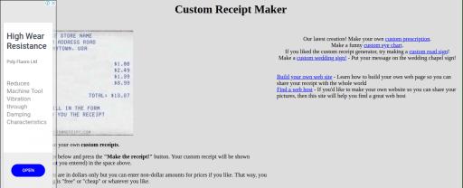Custom Receipt Maker fake walmart receipt generator