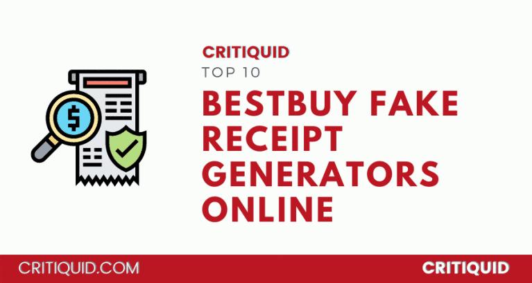 Best Buy Receipt Generator tools
