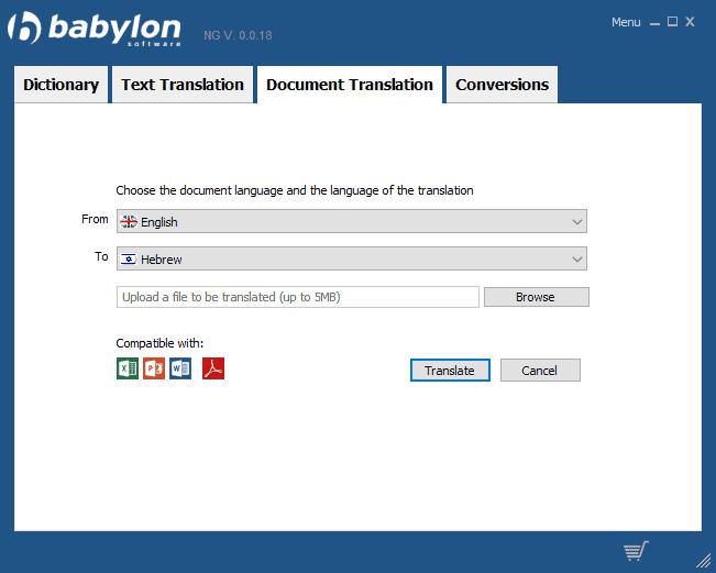 babylon shakespeare translator