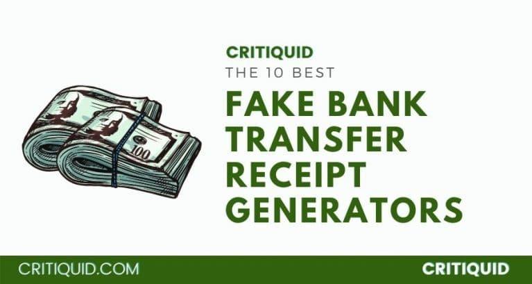 Fake Bank Transfer Receipt Generator