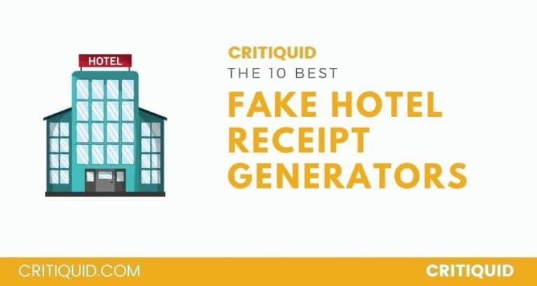HOTEL RECEIPT GENERATOR
