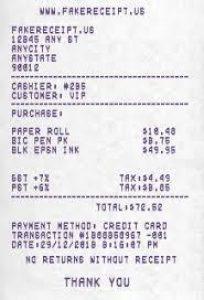 Fake Bank Deposit Receipt Generator