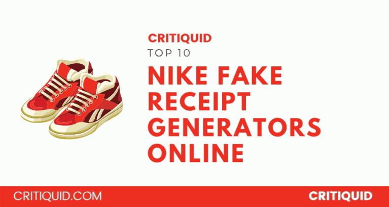 Nike fake receipt generator