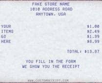 nike receipt generator