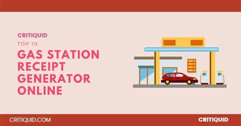 gas station receipt generator